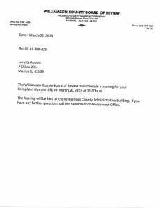 Exhibit J Propertytax Record Cards Williamson County-illinois Il Property Tax Fraud 0239