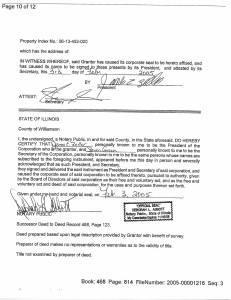 Exhibit U Property Tax Record Cards Williamson County-illinois Il Property Tax Fraud 0502